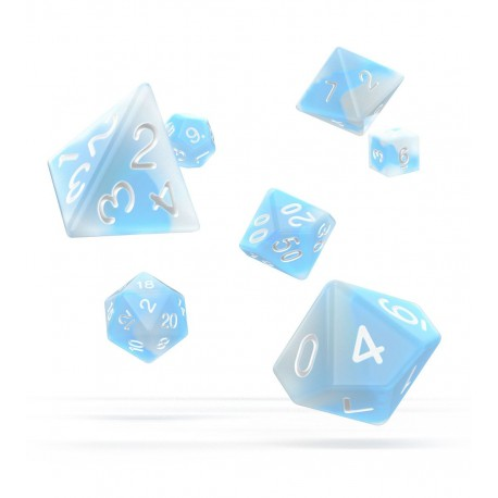 Oakie Doakie Dice RPG Set - Glow in the Dark - Artic