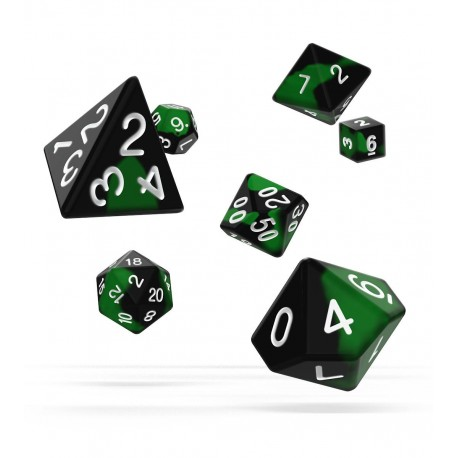 Oakie Doakie Dice dés RPG Set - Glow in the Dark - Biohazard