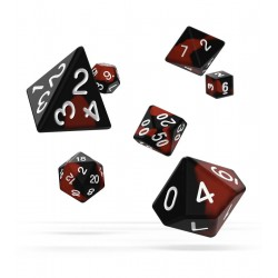 Oakie Doakie Dice RPG Set - Glow in the Dark - Lava