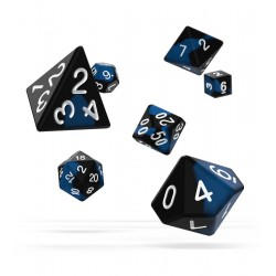 Oakie Doakie Dice - RPG Set - Glow in the Dark - Deep Ocean