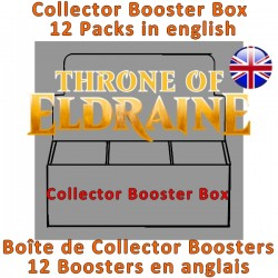 Collector Booster Box : Throne of Eldraine (12 Packs)