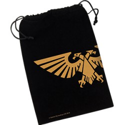Warhammer 40,000 - Imperial Aquila Dice Bag (Yellow)