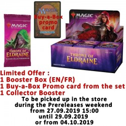 Boîte de 36 Boosters : Le trône d'Eldraine + Carte Buy-a-Box + Collector Booster
