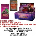 Booster Box : Throne of Eldraine + Buy-a-Box card + Collector Booster