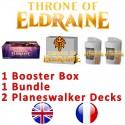 Pack : Throne of Eldraine (36-Booster Box + Bundle + 2 Planeswalker Decks)