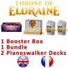 Pack : Throne of Eldraine (36-Booster Box + Bundle + 2 Planeswalker Decks)