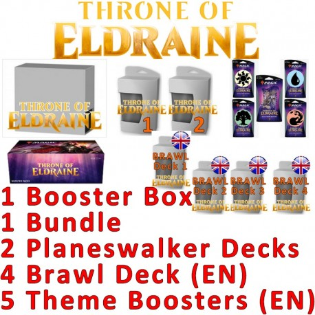 Pack 2 : Le trône d'Eldraine (Boîte de 36 boosters + Bundle + 2 Planeswalker decks + 5 Theme Boosters + 4 Brawl Decks)
