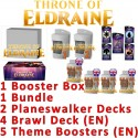 Pack : Throne of Eldraine (36-Booster Box + Bundle + 2 Planeswalker Decks + 5 Theme Boosters + 4 Brawl Decks)