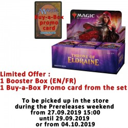 Booster Box : Throne of Eldraine + Buy-a-Box card