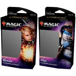 Set of 2 Planeswalker Decks : Throne of Eldraine - Rowan and Oko