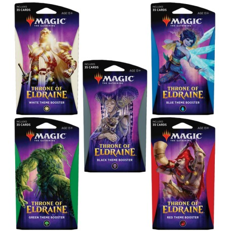 Lot de 5 Theme Boosters : Throne of Eldraine (EN)