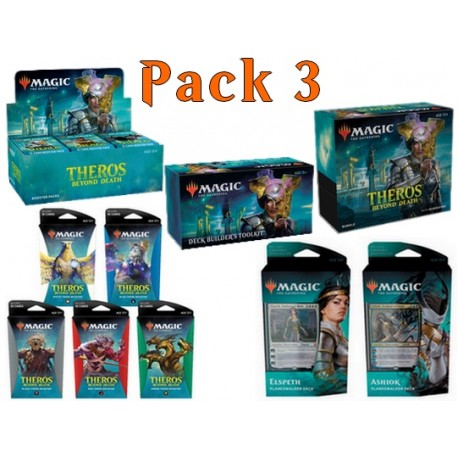 Pack 3 : Theros Beyond Death (36-Booster Box + Bundle + 2 Planeswalker Decks + Deck Builder's Toolkit + 5 Theme Boosters) (EN)