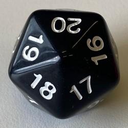 D20 - Dé à 20 faces compte à rebours - 30 mm