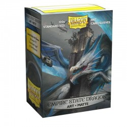 Dragon Shield - 100 Standard Sleeves - Matte Art Sleeves - Empire State Dragon