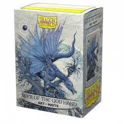 Dragon Shield - 100 Standard Sleeves - Matte Art Sleeves - Seer of the God Hand