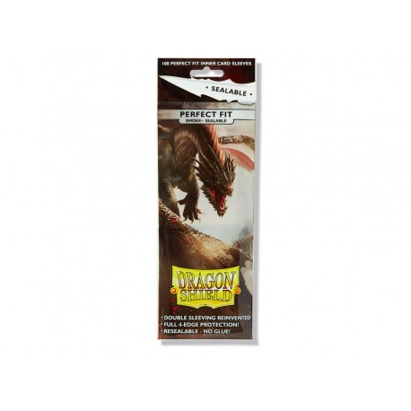 Dragon Shield - 100 Standard Sleeves - Perfect Fit Sealable Smoke