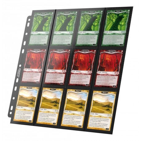 Ultimate Guard - 24-Pocket QuadRow Pages - Side-Loading - Black
