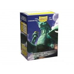 Dragon Shield - 100 Standard Sleeves - Matte Art Sleeves - Dragon of Liberty