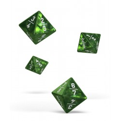 Oakie Doakie Dice - D8 Dice 18 mm - Goyf - Marble - Green (4)