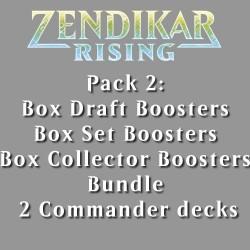 Zendikar Rising - Pack 2 - 5 Products (3 Boxes)