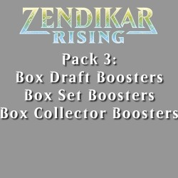 Zendikar Rising - Pack 3 - 3 Products (3 Boxes)