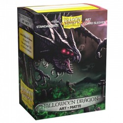 Dragon Shield - 100 Standard Sleeves - Matte Art Sleeves - Halloween Dragon 2020