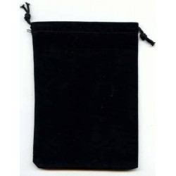 Chessex Small Dice Bag Black Suede