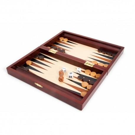 Backgammon - Coffret Acajou (28x15cm)
