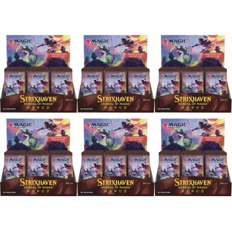 Strixhaven: School of Mages - case of 6 Set Booster Boxes