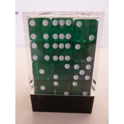Koplow 36D6 12mm Transparent Square Green/White