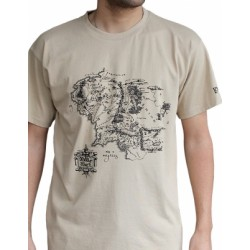 T-shirt Lord of the Rings Map sand