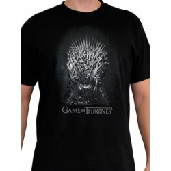 T-shirt Game of Thrones Iron Throne Noir