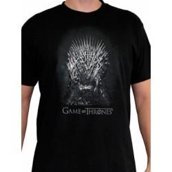 T-shirt Game of Throne Trône de fer Noir