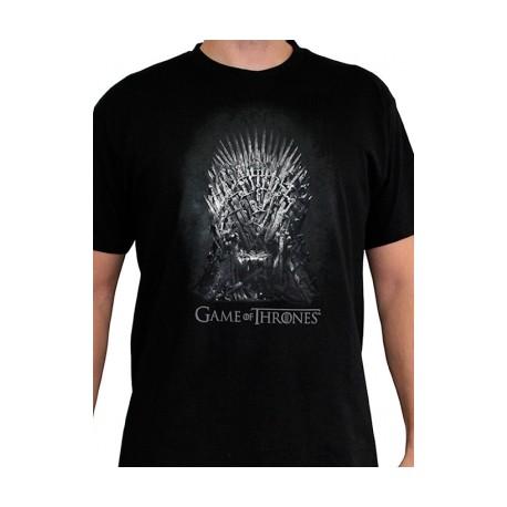 T-shirt Game of Thrones Iron Throne Noir