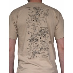 T-shirt Game of Thrones Map Sand