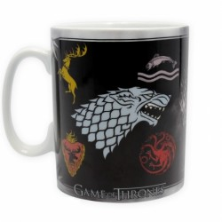 Mug Game of Thrones Houses Logos and Throne King Size (460ml)