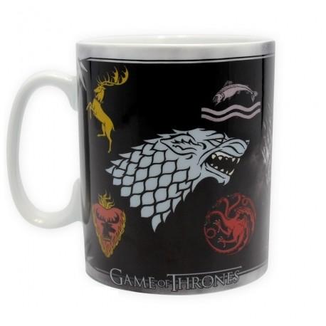 Mug Game of Thrones Houses Logos and Throne
