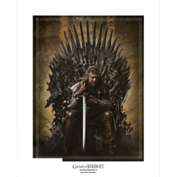 Poster Collector Game of Thrones Trône de fer