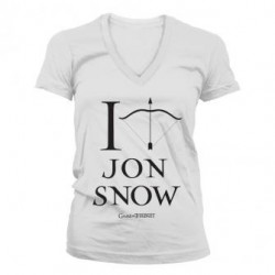 T-shirt Game of Thrones I Arrow Jon Snow Femme