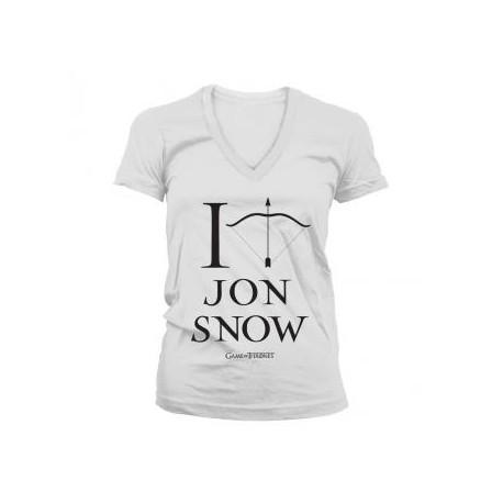 t shirt game of thrones i arrow jon snow femme hbo. Black Bedroom Furniture Sets. Home Design Ideas