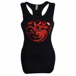 T-Shirt Game of Thrones Targaryen Foil Print Women's Tank Top