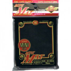 KMC Sleeves Mini Mat Black (x50)