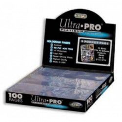 9-Pocket Platinum Pages (11-Holes) Ultra PRO (x100)