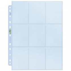Feuilles de Classeur 9 cases Platinum Pages (11 Trous) Ultra PRO (x100)