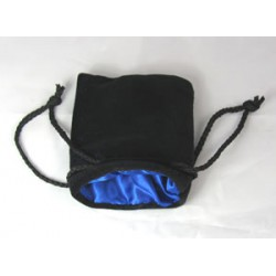 Koplow - Dice Bag - Small - Black Velvet with Blue satin lining