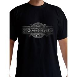 T-shirt Game of Thrones Opening Logo Noir