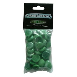 Gaming Counters Opaque Jade Green Dragon Shield