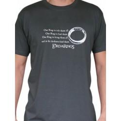 T-shirt Seigneur des Anneaux Anneau Unique Gris
