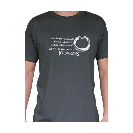 T-shirt Lord of the Rings One Ring Grey