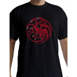 T-shirt Game of Thrones Targaryen Noir